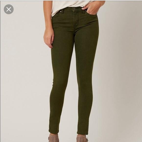 Just Black Denim - Just black distressed green jeans